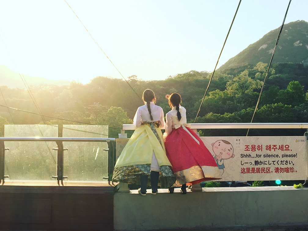 Two Koreans in Traditional Dress