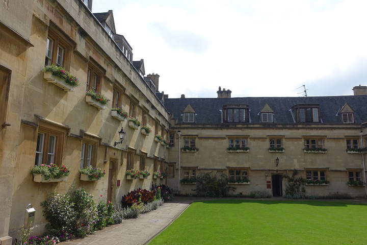 One of Pembroke College's Courtyards