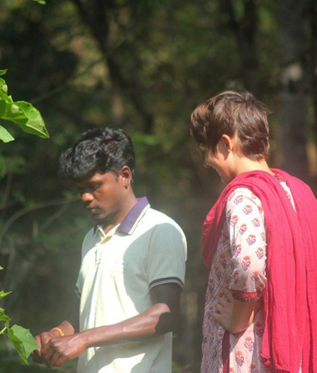 Hanna Reichel and Murugiyan, her partner in India