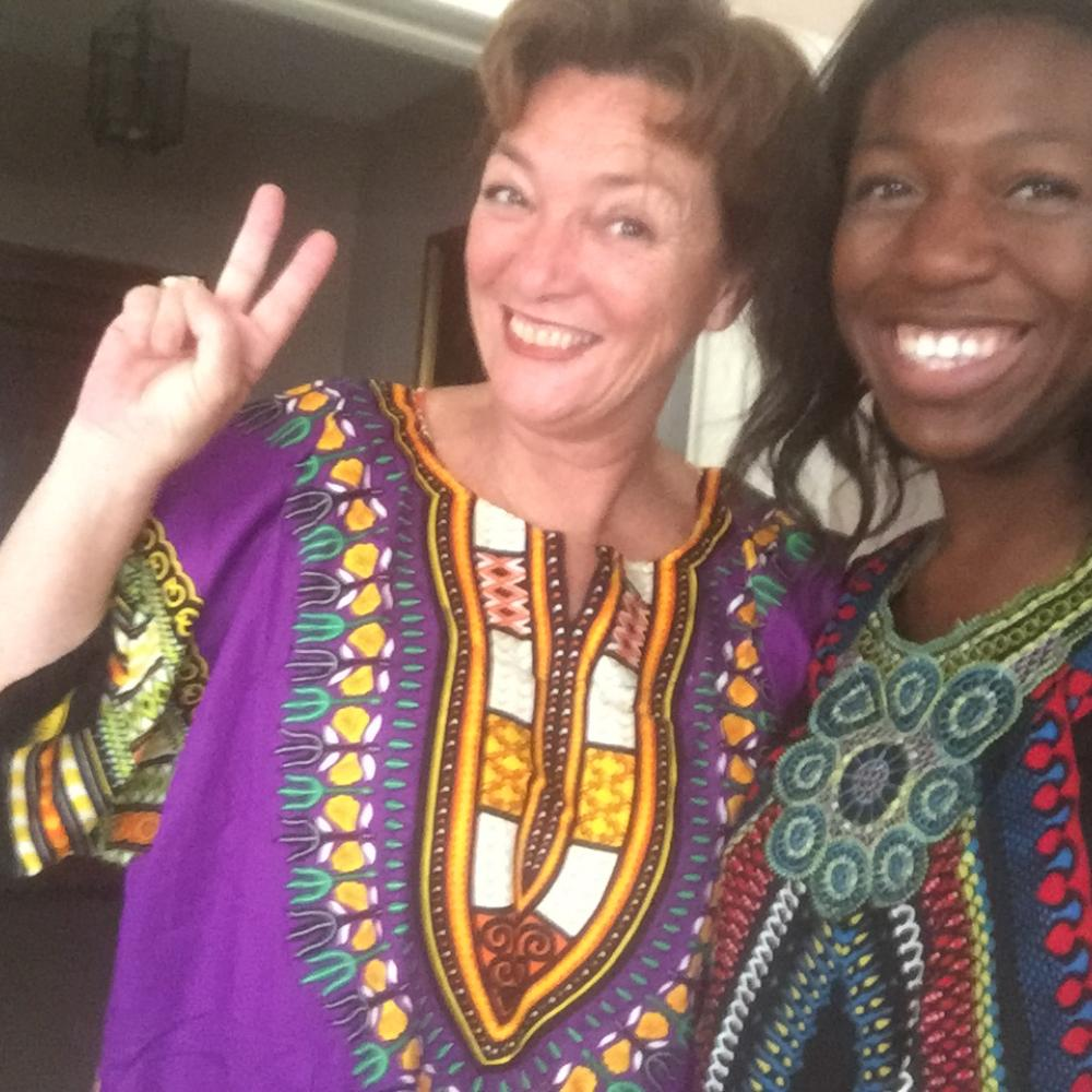 Ito with her host mother in dashikis