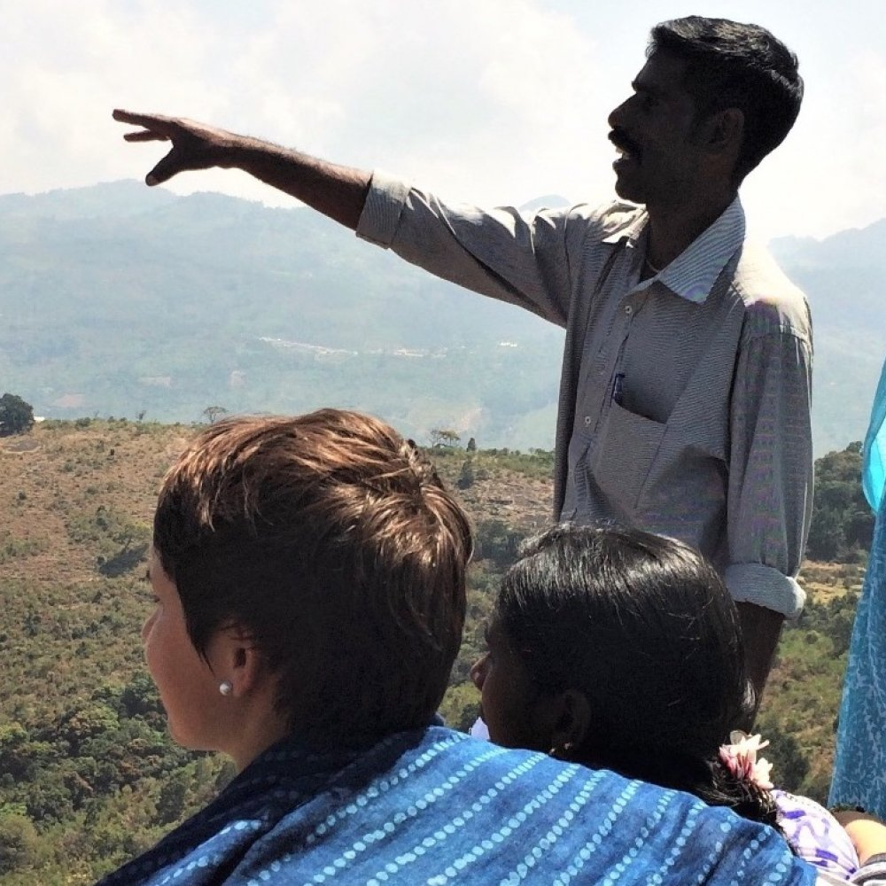Students at the Nilgiris Field Learning Center in India